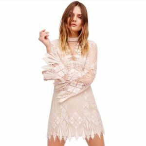 Free People Deco Lace Mini Night Out Dress